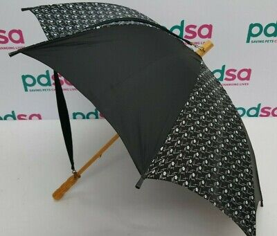 Mary Quant Wooden Handle Umbrella With Over The Shoulder Strap - C852