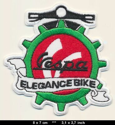 VESPA Patches Aufnäher Aufbügler ELEGANCE Moped Scooter Roller Piaggio Italien