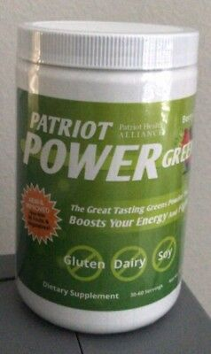 Patriot Power Greens Large 11.43oz Canister~ Sealed ~Fights Fatigue~Energy Boost