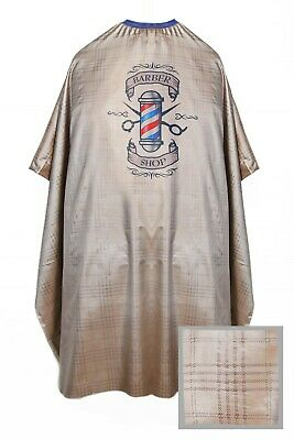 Barber Shop Cape Gown Premium Salon Hairdresser Satin Capes Gowns Burberry Gold