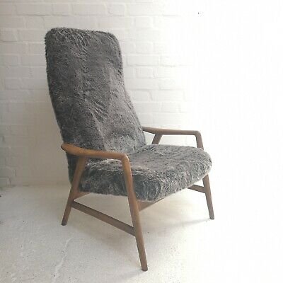 Vintage Danish Mid Century Kontur Chair by Alf Svensson for Fritz Hansen 1950's