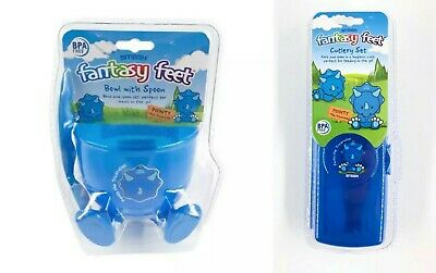 Smash Fantasy Feet Childs Travel Snack Cup & Cutlery Set * New And Sealed *