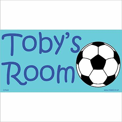 FOOTBALL SOCCER PERSONALISED Childs Bedroom Door Sign Name ...