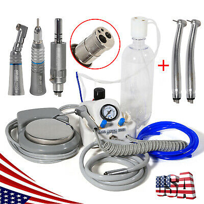 USA Dental High Low Speed Handpiece & Portable Turbine Unit Air Control 4H M^D