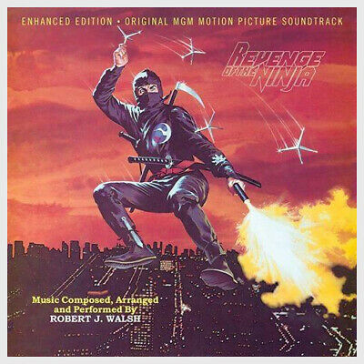 REVENGE OF THE NINJA Soundtrack Score CD by Robert J. Walsh Ltd. 1000 *SEALED!*