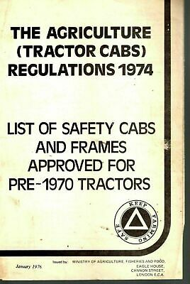 List Of Safety Cabs & Frames Approved For Pre 1970 Tractors Leaflet 1976 8180E