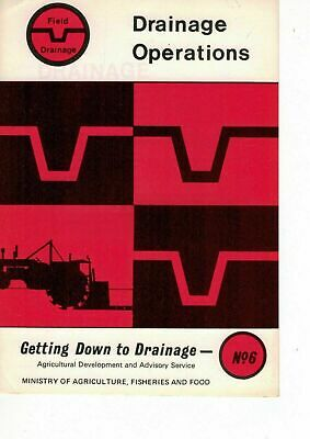 MAFF Getting Down To Drainage Drainage Operations Leaflet No 6 1973 5318F