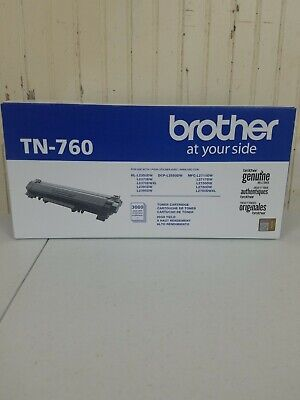 Brother Genuine TN-760 High Yield Toner  Original Cartridge - Black