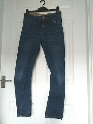 Boys NEXT O LEG  Blue Denim Jeans, Age 12 Years, Size 152 cm  - Good worn Condt