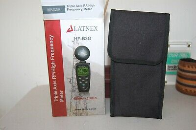 LATNEX METER HF-B3G 3-Axis HF RF Meter Detector Measure EMF -- NEW BAD BOX