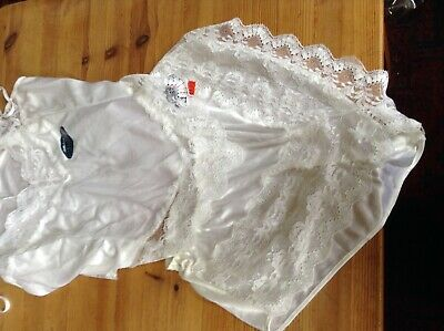 "Vintage St Michael Satin Cami Top French Knicker Set For 34 36"" Hip 36 Bust Bnwt"