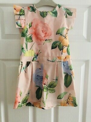 Girls Ted Baker Floral Playsuit Age 7