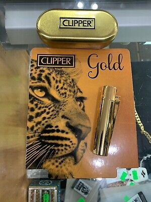 1x Full Size Refillable Adjustable Flame Metal Clipper Lighter Box! Shinny