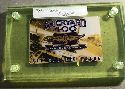 RARE Brickyard Inaugural Race Test Phone Card LE 12,000