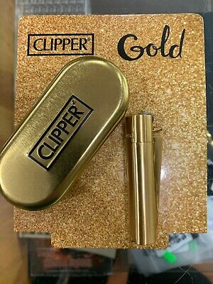 1x Full Size Refillable Adjustable Flame Metal Clipper Lighter Box! Brushed
