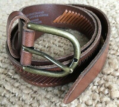 """American Eagle Outfitters Leather Belt Lacing Warm Brown XS / S  32.5"""" - 36.5"""""""