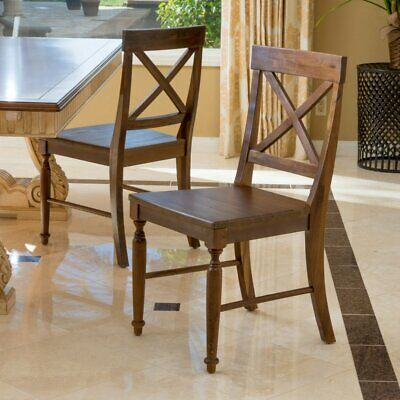 Wood Dining Chair - Set of 2