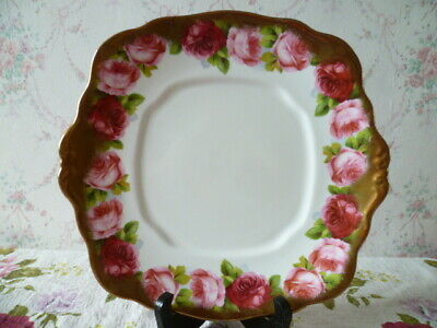 Vintage Royal Albert China Cake or Sandwich Plate Old English Rose 6241