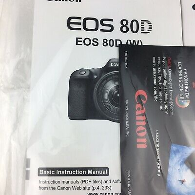 CANON EOS 80D Instruction Owners Manual EOS 80D Book NEW - $6 50