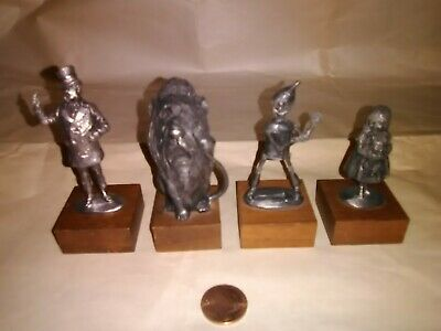 Vintage LOT Pewter Fancy WIZARD OF OZ Figurines Malverne NY Dorothy Land of Oz 4