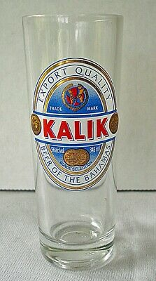 """""""KALIK"""" Beer of the Bahamas Clear Double Shot Glass"""