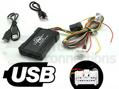 USB Adapter Interface CTANSUSB001 Aux Eingang MP3 3,5 mm Stecker für Nissan