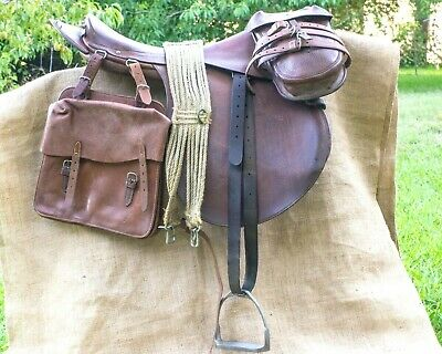 MUSEUM QUALITY US Cavalry 1936 Phillips Officer's Saddle complete with very rare