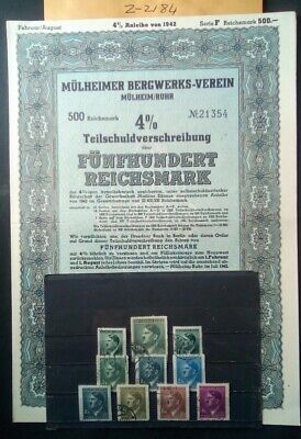 German Third Reich  Stamps, Bond / Loan Certificate/  Original, 1939 /45