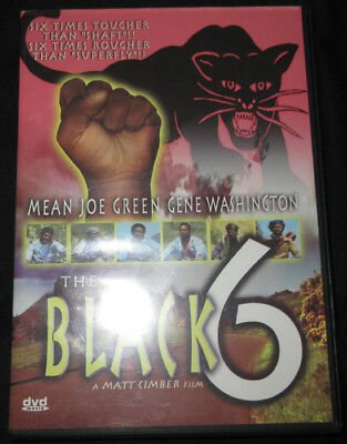 Black 6 DVD Rare OOP 1973 Mean Joe Green Gene ex NFL Blaxploitation 70s Cult