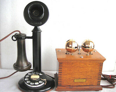 Western Electric #2 Dial Candlestick Restored Antique Telephone & Sleigh Bells