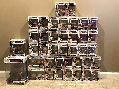 LOT OF 39 Funko Pop Television Stranger Things: 4in, 6in, 10in, 2-Packs, Chases