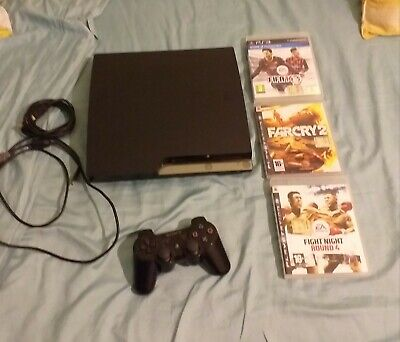 Sony playstation 3 - console PS3 nero slim -160gb + 3 videogames