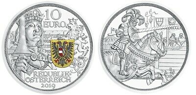 10 euro Autriche 2019 argent BE – Chevalerie / Collection Knights' Tales