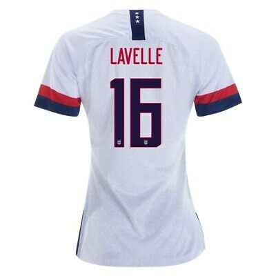 Nike Rose Lavelle #16 Usa 2019 World Cup Women's Home White Womens Soccer Jersey