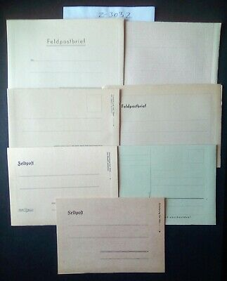 German Ww2 Feldpost Lot(7) 1939/45 Original Unused .