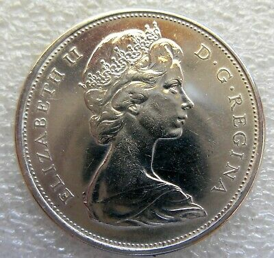 1965 Canadian Silver 50 Cent Coin Circulated Condition