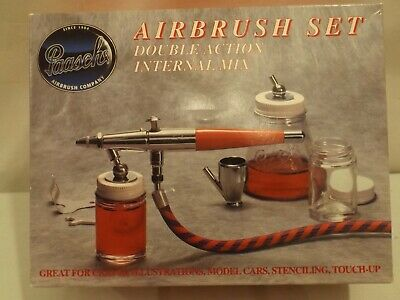 Paasche double action VL airbrush set in original box, never used.