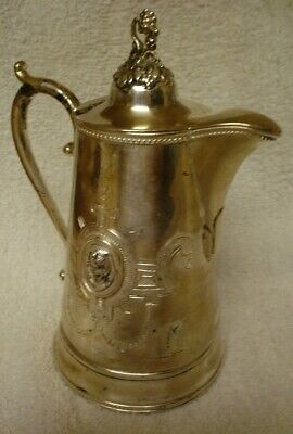 Victorian S.P. Syrup Pitcher W/ Figural Medallions