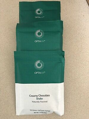 MEDIFAST OPTAVIA CREAMY CHOCOLATE SHAKES ****3 Packets/fuelings ***FREE SHIP**