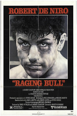 Raging Bull 1980 27x41 Orig Movie Poster FFF-75481 Robert De Niro Martin Scor...