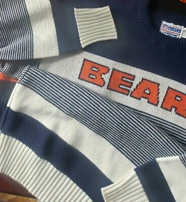 new arrival 7b8bf 6478e VINTAGE PRO LINE cliff engle chicago bears sweater adult medium wool