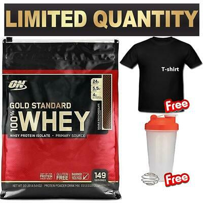 OPTIMUM NUTRITION 100% WHEY 10LB 4.5kg GOLD STANDARD 10lbs WPI WPC PROTEIN ON