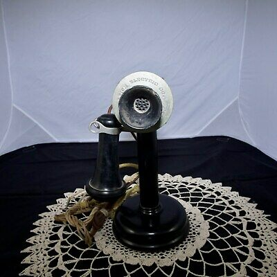 1915 Antique Leich Electric Candlestick Phone