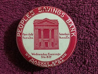 Antique Providence (RI) People's Savings Advertising Celluloid Pocket Dime Bank