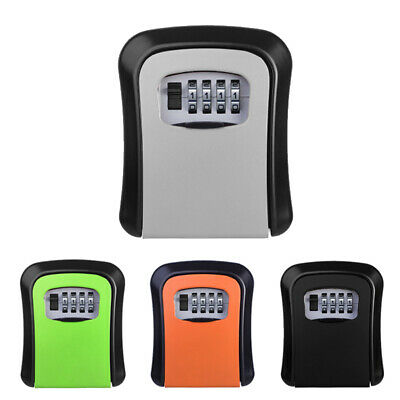 4 Digit Outdoor High Security Wall Mounted Key Safe Box Code Secure Lock Box