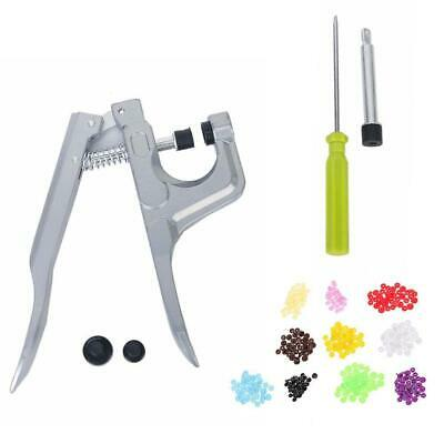 Hand-held Pliers Tool No-Sew Button Snap Fastener Press Attacher