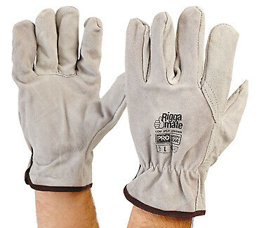 ProChoice® Cowsplit Leather Riggers Gloves Large - PACK of 5