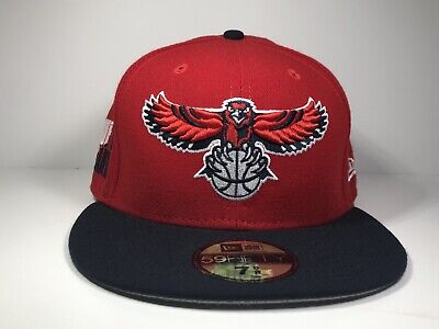 brand new a5a1c 4506d Atlanta Hawks NEW ERA Cap True To Atlanta Red 59FIFTY NBA Fitted Hat 7 5