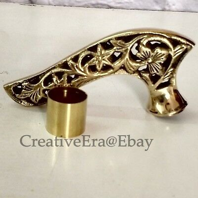 Antiqued Brass Hollow handle Head finish for walking stick Wood Canes Style Gift