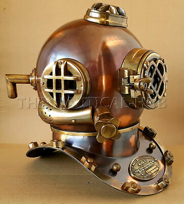 "Vintage Diving Helmet U.S Navy Mark V Scuba Antique 18""  Divers Helmet Replica"
